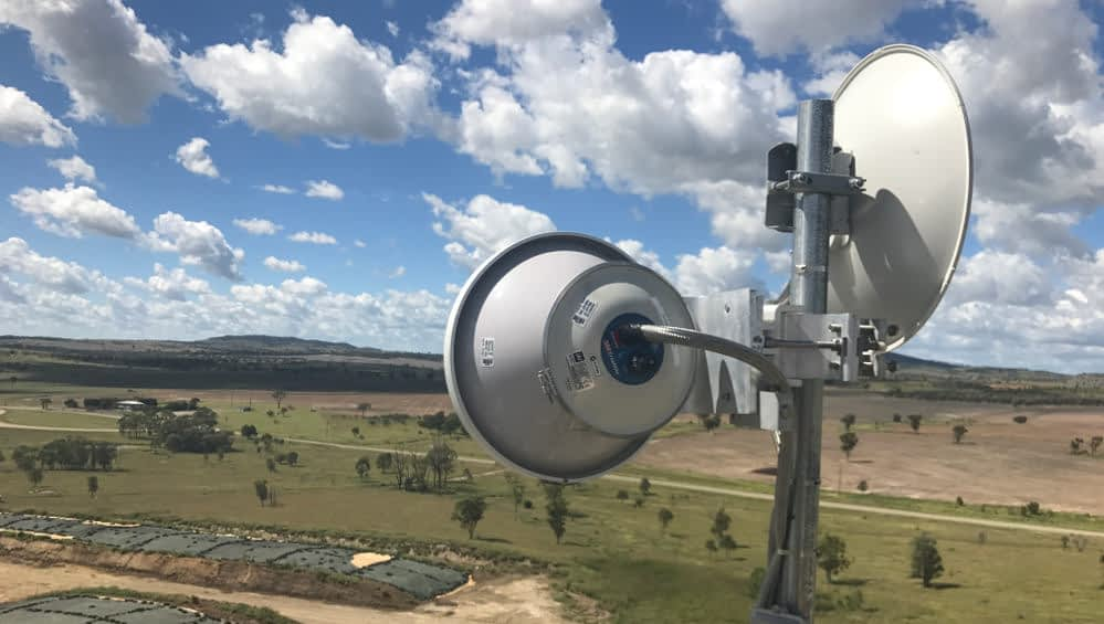 brindley park wan install australian country choice Design and consulting telecommunications services Agriculture internet services Farm feedlot