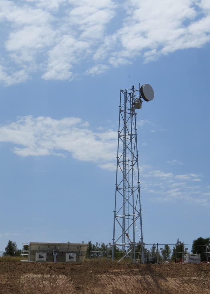 Eurombah Creek tower fifo village remote internet communications